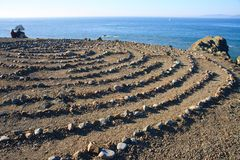 Labirinto di pietra Fotografie Stock