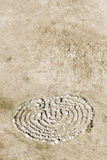 Labirinto di pietra su terra Immagini Stock Libere da Diritti