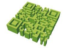 Labirinto di QR Fotografia Stock Libera da Diritti