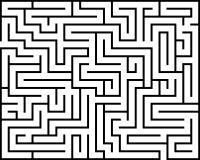 Labirinto di rettangolo isolato Fotografie Stock