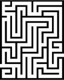 Labirinto di rettangolo isolato Immagini Stock Libere da Diritti