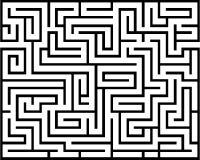 Labirinto di rettangolo isolato Fotografia Stock
