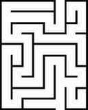 Labirinto di rettangolo isolato Immagine Stock