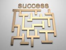 Labirinto di successo Immagini Stock Libere da Diritti