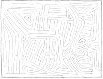 Labirinto disegnato a mano numero uno, livello facile royalty illustrazione gratis
