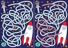Labirinto do astronauta ilustração stock