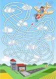 Labirinto do avião para crianças Fotos de Stock