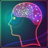 Labirinto do cérebro ilustração royalty free