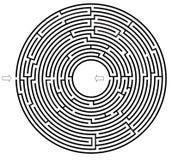 Labirinto do círculo Fotografia de Stock