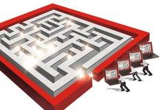 Labirinto do computador Imagem de Stock