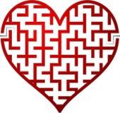 Labirinto do coração Fotografia de Stock Royalty Free