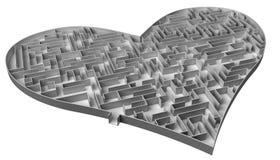 Labirinto do coração Imagens de Stock