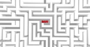 Labirinto do débito Foto de Stock
