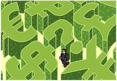 Labirinto do dinheiro Fotografia de Stock
