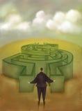 Labirinto do dinheiro Fotografia de Stock Royalty Free