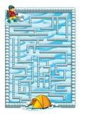 Labirinto do inverno dos desenhos animados Imagem de Stock Royalty Free