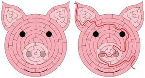 Labirinto do leitão ilustração stock