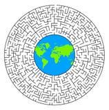 Labirinto do mundo Foto de Stock