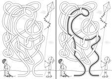 Labirinto do papagaio ilustração royalty free
