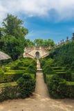 Labirinto do parque em Barcelona imagens de stock royalty free