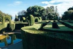 Labirinto do parque em Barcelona Fotos de Stock Royalty Free