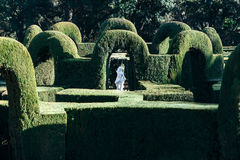 Labirinto do parque em Barcelona Imagem de Stock
