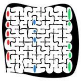 Labirinto do quadrado preto com ajuda Fotos de Stock
