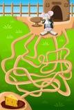Labirinto do rato e do queijo ilustração royalty free