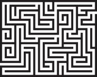 Labirinto do retângulo isolado Imagens de Stock Royalty Free