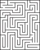 Labirinto do retângulo isolado Fotografia de Stock Royalty Free