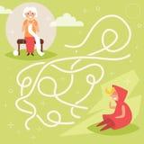 Labirinto do ` s das crianças Vetor Imagens de Stock Royalty Free