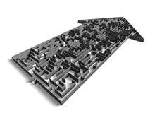 Labirinto do sentido Imagens de Stock