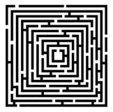 Labirinto do vetor Imagens de Stock Royalty Free