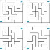 Labirinto do vetor ilustração royalty free