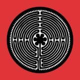 Labirinto do vetor ilustração stock