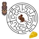 Labirinto do vetor, jogo da educação do labirinto Foto de Stock Royalty Free