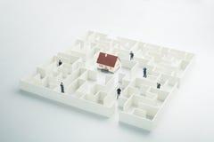 Labirinto dos bens imobiliários foto de stock royalty free