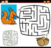 Labirinto dos desenhos animados ou jogo do labirinto Fotografia de Stock