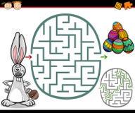Labirinto dos desenhos animados ou jogo do labirinto Fotos de Stock Royalty Free