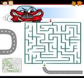 Labirinto dos desenhos animados ou jogo do labirinto Imagens de Stock Royalty Free
