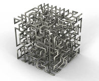 Labirinto dos fios Fotos de Stock Royalty Free