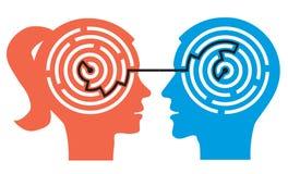 Labirinto dos pares nas cabeças Imagens de Stock