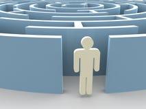 Labirinto e homem Imagens de Stock