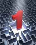 Labirinto e numero uno Fotografia Stock