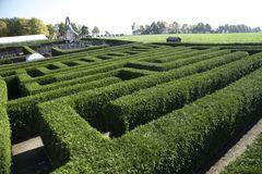 Labirinto em Kleinwelka Bautzen Alemanha Fotos de Stock Royalty Free