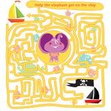 Labirinto engraçado 2 ilustração stock