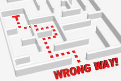 Labirinto errado da maneira Foto de Stock Royalty Free