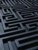 Labirinto escuro ilustração stock