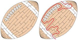 Labirinto fácil da bola ilustração stock