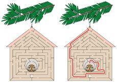 Labirinto fácil da casa do pássaro ilustração do vetor